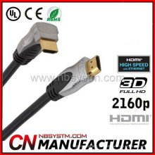 HDMI 1.4 ângulo recto do cabo