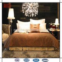 Novo Luxo Projeto Plain Branco Atacado Hotel Bed Room Set