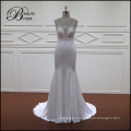 Soft Satin Bridal Gown with Train