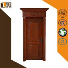 Luxury carving modern solid wooden door design
