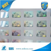 Etiqueta engomada de la seguridad de la adulteración del holograma etiqueta engomada de encargo del logotipo del holograma 3d para la máquina de impresión