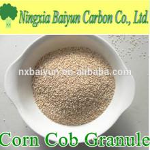 Gránulo de mazorca de maíz abrasivo de malla 20 para pulido de vidrio