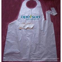 Tablier en plastique jetable anti poussière