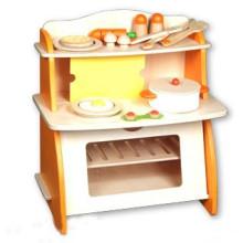 Kids Wooden Role Play Toys Kitchen Pretend Set Kitchen Hearth Toys