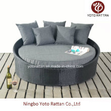 Steel Black Small Lounger for Outdoor (1314)