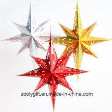 Бумага для лазерной карточки Набор украшений для вечеринок на вечеринке Праздничный рождественский праздник Восьмиугольные звездные фонарики