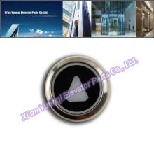 KONE Boutons Ascenseur Levage Pièces détachées En acier inoxydable Bouton Appel Push Black Mark Original