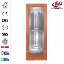 24 polegadas x 80 polegadas Preston Zinco Woodgrain 1 Lite Inacabado Carvalho Porta Interior Laje