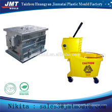 China injection plastic mop bucket with wheels mold