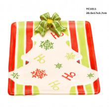 Pratos cerâmicos de doces de Natal na promoção