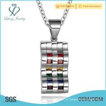 Jóia de prata do pendente do amante do casal gay, jóia personalizada dos pares do gay