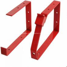 Soporte de almacenamiento de escalera de acero rojo con recubrimiento en polvo