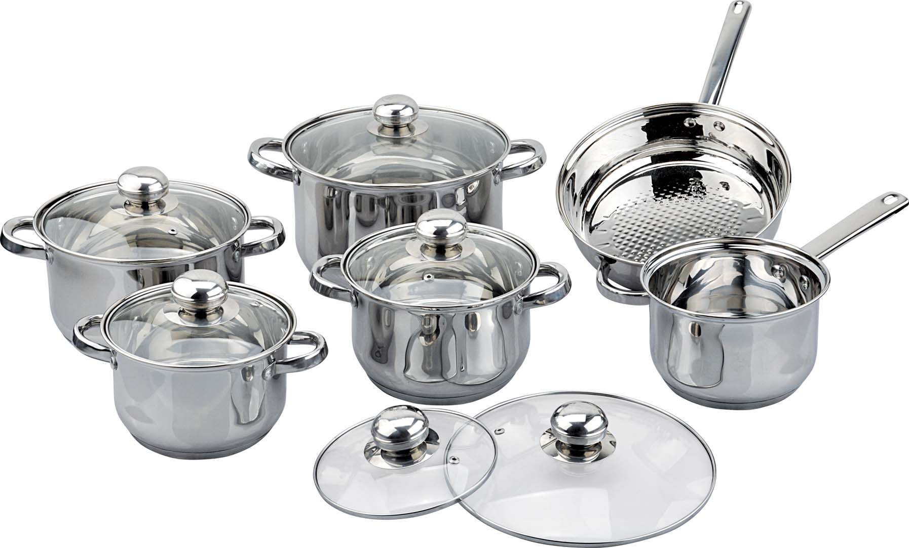 12pcs belly shape cookware set