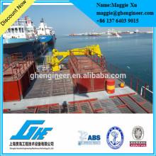 Grue marine télescopique hydraulique à haute mer