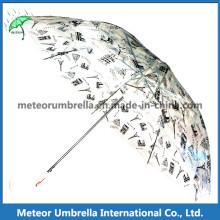 Nouveaux articles Safe Transparent Clear PVC Printing Bubble Children Umbrella