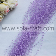 Light Purple Faux Pearl Garland String with Rice-size 3MM for Christmas Decoration