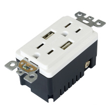 BAS15-2USB UL and CUL listed receptacle with USB