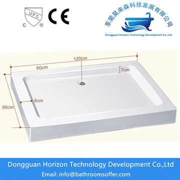 Acrylic shower base large shower tray