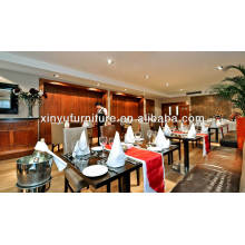 Hotel furniture wooden restaurant table and chair set XY0807