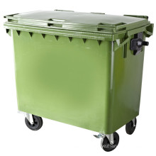 Four Wheels Outdoor Plastic Trash Can (FS-81100)
