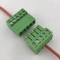 5 contactos del bloque de terminales enchufables de tornillo de cableado