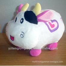 Cute plush cow shaped money box money pot