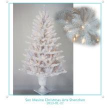 2013 Árbol de Navidad artificial en bote con Luz