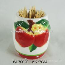 Portaminas de cerámica decorativo de manzana