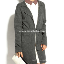 16STC8131 wool knit long open cardigan