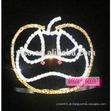 Design barato uso popular tiara de cristal de abóbora