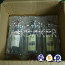 Free samples Inflatable wine Air Bubble Cushion Packaging Bag for wine bottle