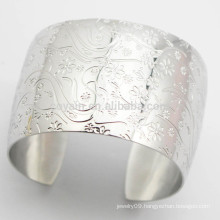 Buy From China Wide Stainless Steel Flower Cuff Bracelet Silver