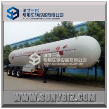 58500L Kundenspezifische Q345r / Q370r Luftfederung BPW 3-Achsen LPG Propan Anhänger (58.5m3 58.5cbm 58500L 58.5KL 24.5ton)