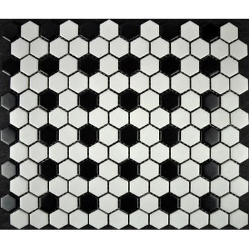 Warna Campuran Hexagon Tombol Dekorasi Mosaic