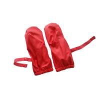 Красный PU дождь варежки для младенца и ребенка