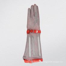 Luva de malha de manga longa de proteção anti-corte luva-2375