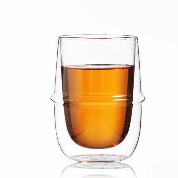 New Product Custom Heat-resistant Glass Double-layer Coffee Cup with handle