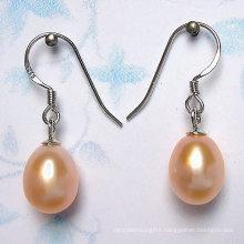925 Silver Drop Freshwater Pearl Earrings (ER1441)