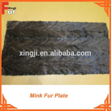 Top Quality Back Paw Mink Fur Plate