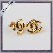 Venda a granel Estilo Moda 925 Prata Ouro Amarelo Plated Jóias