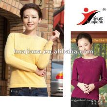 Elegant ladies yellow Cashmere sweater jumper