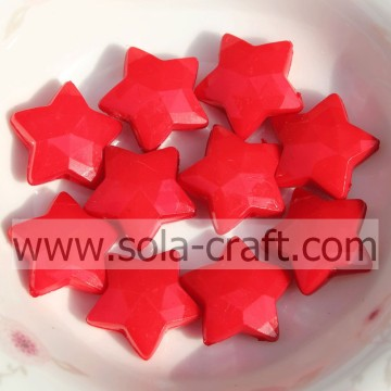 High Quality Opaque Acrylic Small Star Acrylic Solid Beads