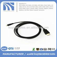5FT Micro HDMI vers HDMI Câble haute vitesse Téléphone portable 1080p 3D HTC EVO 4G HDTV
