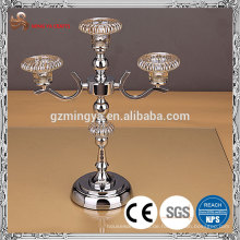 Weihnachtsdekor Metalllegierungsglasmaterial eleganter Kerzenhalter