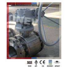 API6d F304 Gear Operated Flanged Ball Valve for Peru
