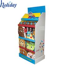 3 Tier supermarket promotional pop up cardboard toy display rack