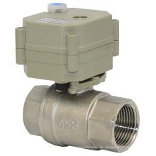 2-Wege-Ss304 Elektromotor Power Wasser Kugelhahn