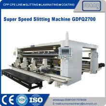 Máquina de corte e rebobinamento de filme plástico CPE CPE