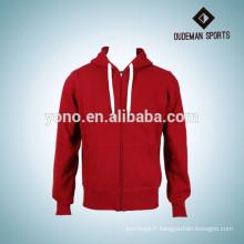 bon marché hoodies faits sur commande simples de hoodie de tirette de qualité à vendre