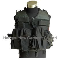 Armee / Polizei Schwarze Militärausrüstung Taktische Weste (HY-V045)